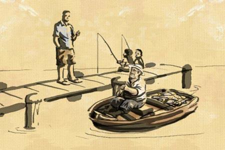 Бизнесмен и рыбак