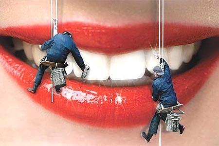 Чистка зубов ультразвуком и при помощи кап