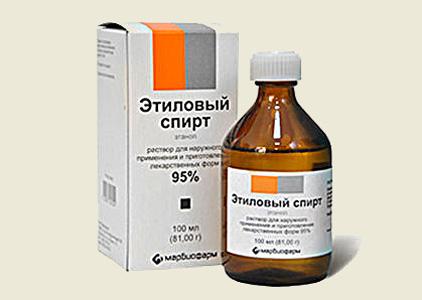 Спирт в домашней аптечке
