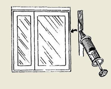 Как заделать щели в оконных рамах