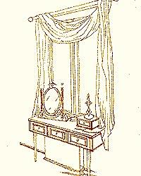 Туалетный столик у подоконника