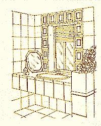 Подоконник для ванных комнат