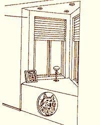 Уголок для собаки у подоконника