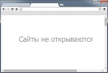 Не открываются сайты в браузере, а интернет работает