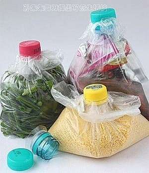 Как закрыть продукты в пакете